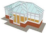 T Shape Conservatory - Conservatories in Huddersfield